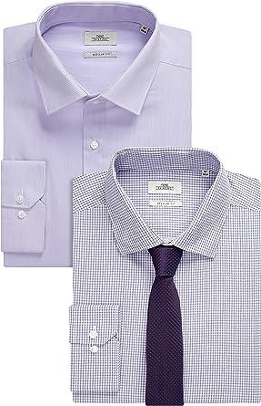 next Hombre Pack De Dos Camisas Corte Regular Y Corbata ...