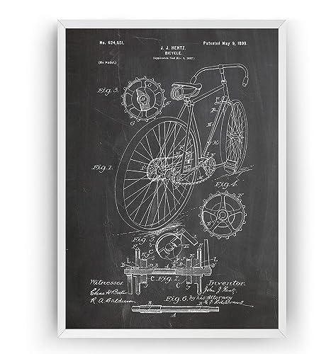Bicicleta de Carreras 1899 Poster de Patente - Patent Póster Con Diseños Patentes Decoracion de Hogar Inventos Carteles Prints Wall Art Posters Regalos Decor Blueprint - Marco No Incluido: Amazon.es: Handmade