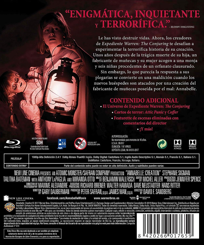 Annabelle (Creation) - Halloween Blu-Ray [Blu-ray]: Amazon.es: Stephanie Sigman, Talitha Bateman, Lulu Wilson, Anthony Lapaglia, Miranda Otto, ...