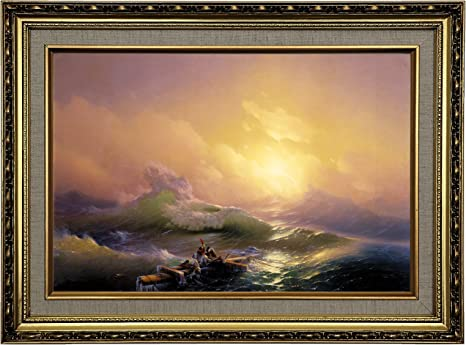 "12/"" x 18/"" The Ninth Wave by Hovhannes Aivazovsky Giclee Canvas Prints"