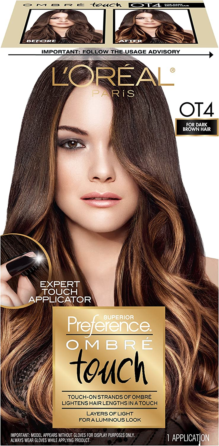 LOreal Paris Superior Preference Ombre Touch Hair Color, OT4 Medium to Dark Brown Hair by LOreal Paris