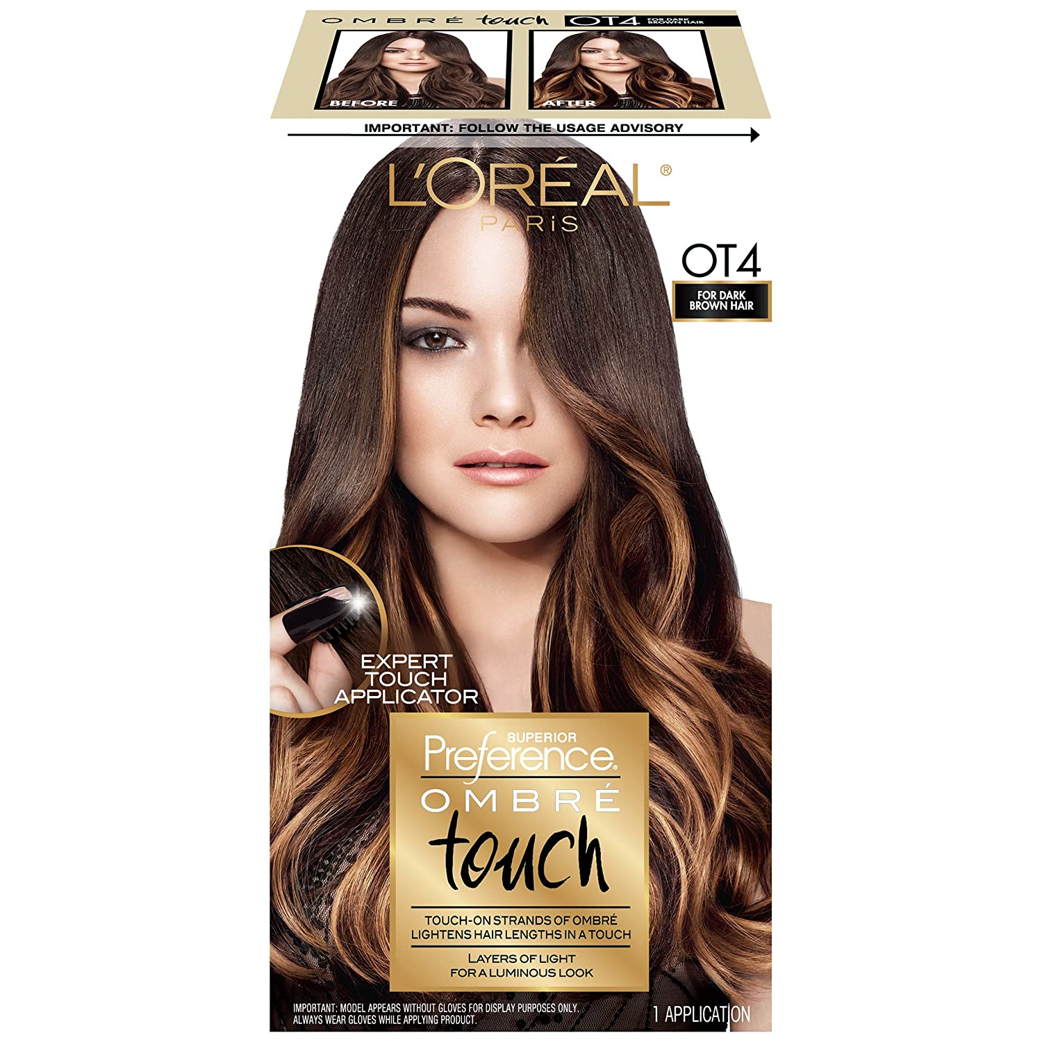 L'Oreal Paris Superior Preference Ombré Touch Haircolour, Ot4 Medium To Dark Brown Ot4 Medium To Dark Brown L' Oreal Paris K1553000