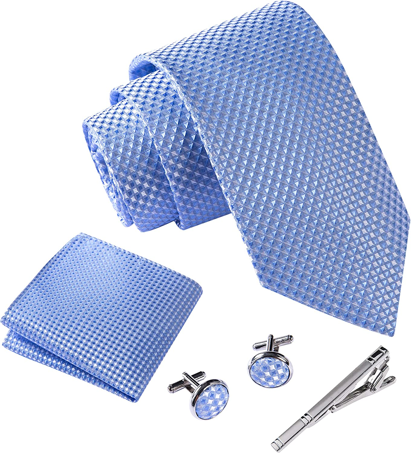Italian style ties for men Men tie set incl. handkerchief + cufflinks + tie pin Massi Morino