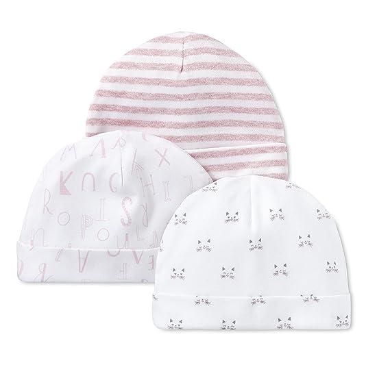 b06f7626ef2 Amazon.com  Lamaze Baby Girls  Organic Essentials 3 Piece Hat Set  Clothing