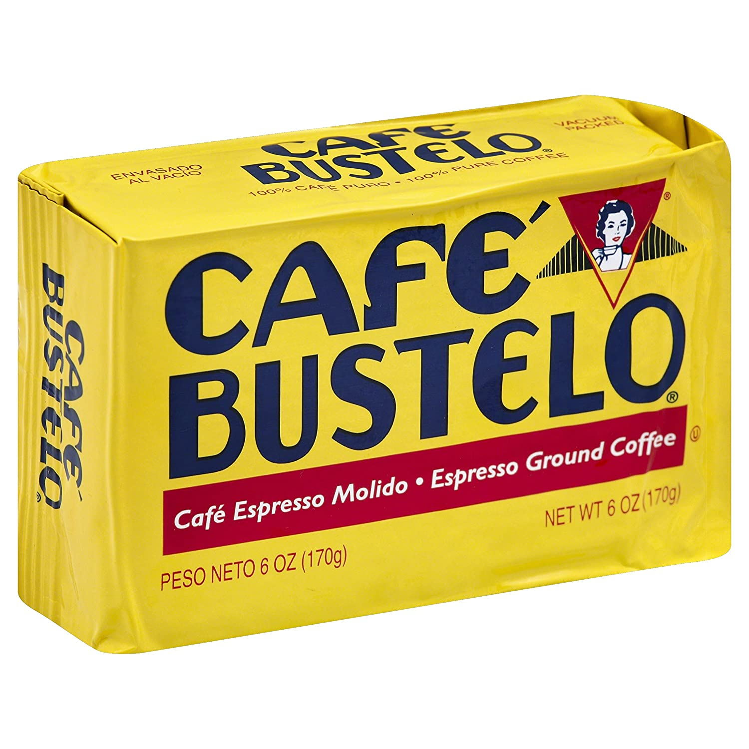 Cafe Bustelo Espresso Coffee, 6 Ounce (Pack of 12)