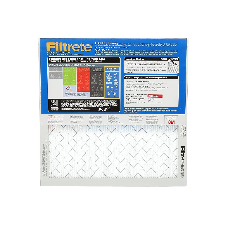 Filtrete MPR 1900 20x20x1 Maximum Allergen Healthy Living Pleated AC