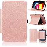 LG G Pad X2 8.0 Plus Case, ACdream Premium Folio Leather Tablet Case for T-Mobile LG G Pad X2 8.0 Plus V530 / G Pad F2 8.0 LK460 with Auto Wake Sleep Function, Rose Gold Star of Paris