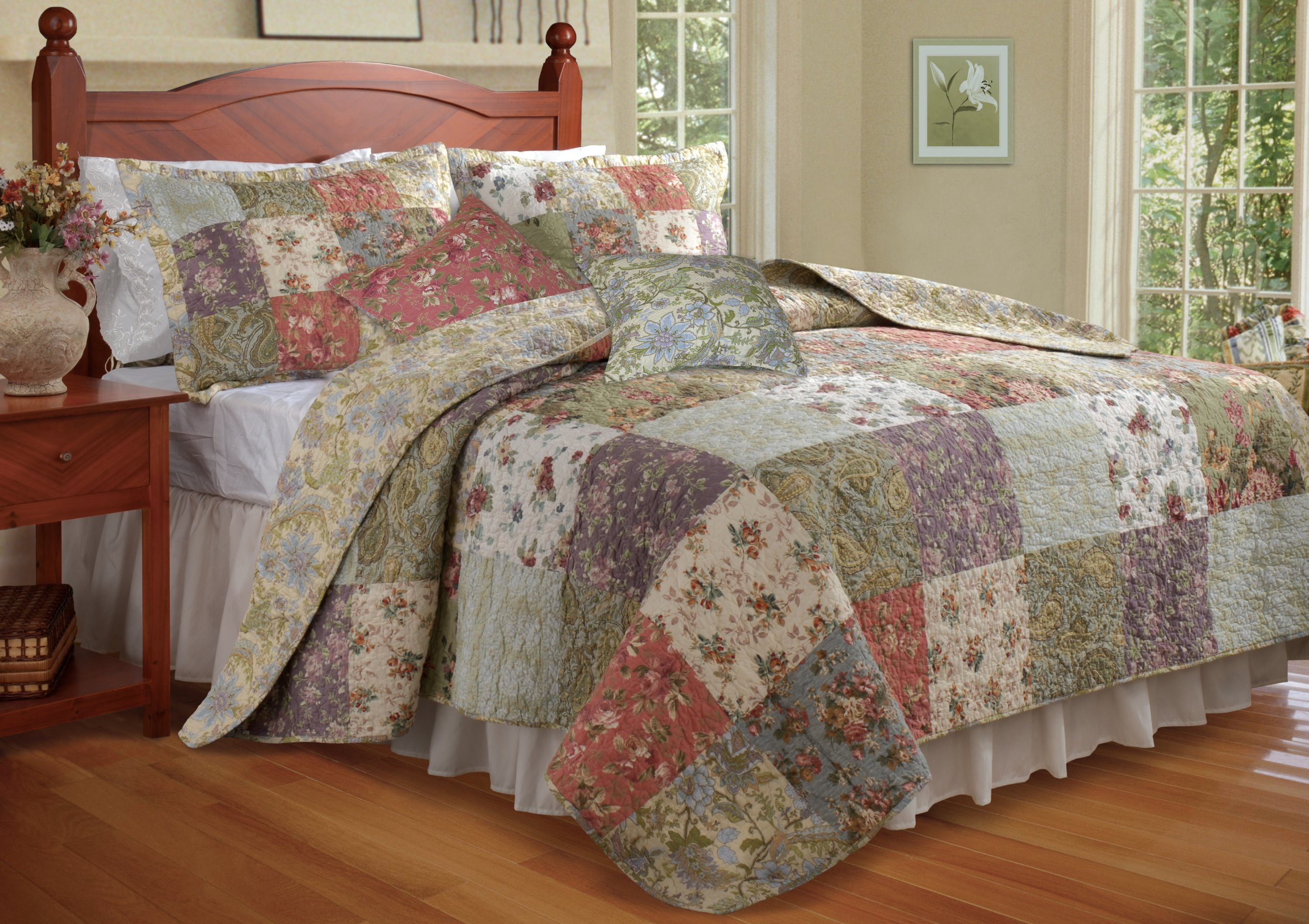Greenland Home Blooming Prairie King Quilt Bonus Set by Greenland Home