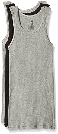 e40ba92e2e0d08 Hanes Men s 3-Pack FreshIQ Comfort Blend A-Shirt at Amazon Men s ...