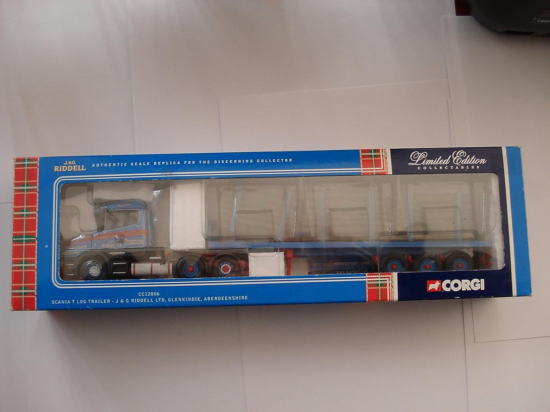 Corgi CC12806 Scania T Log Trailer  J & G Riddell Ltd Glenkindie, Aberdeenshire 1 50 Scale