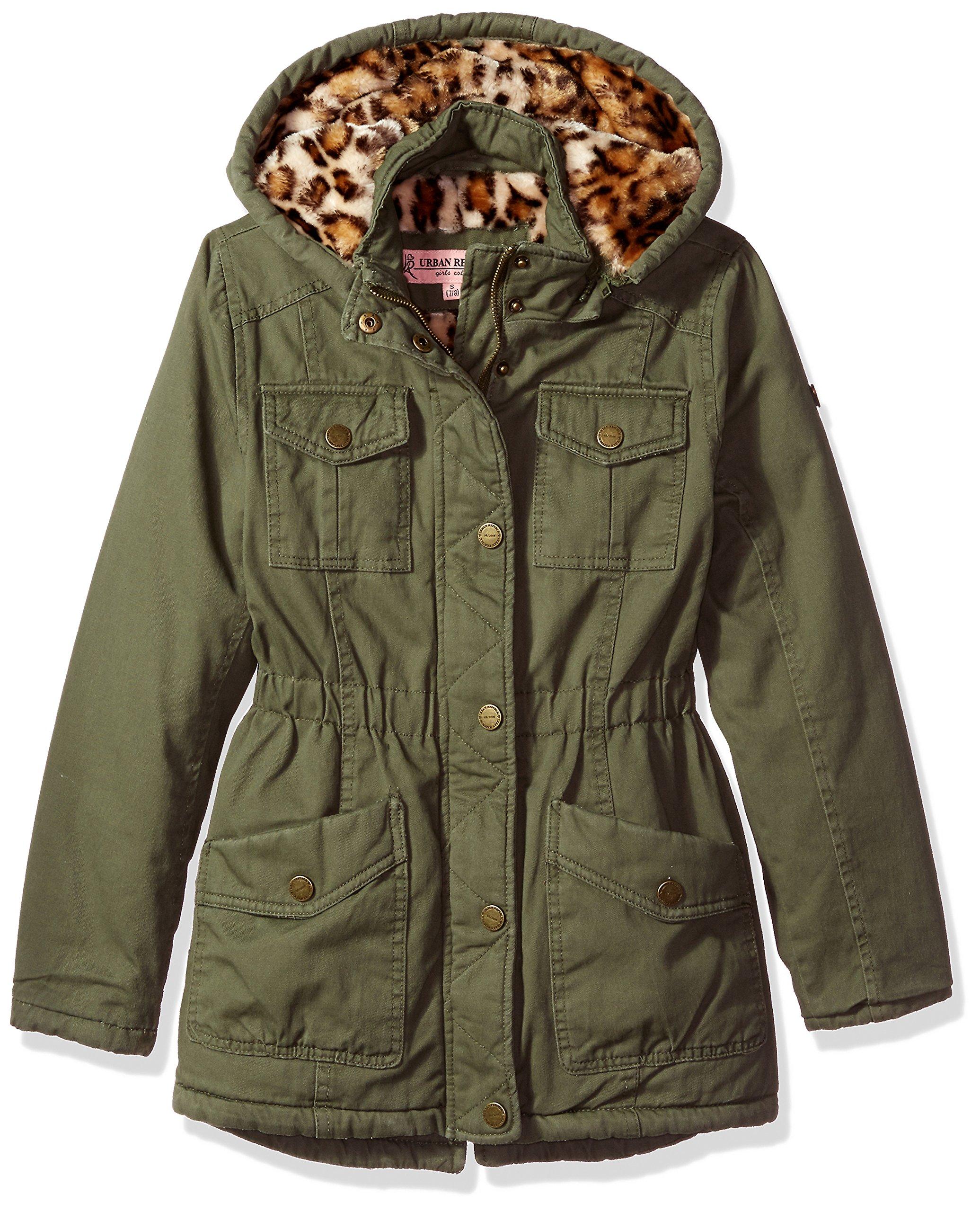 Urban Republic Little Girls' Ur Cotton Twill Jacket, Dusty Olive 5808KDL, 5/6