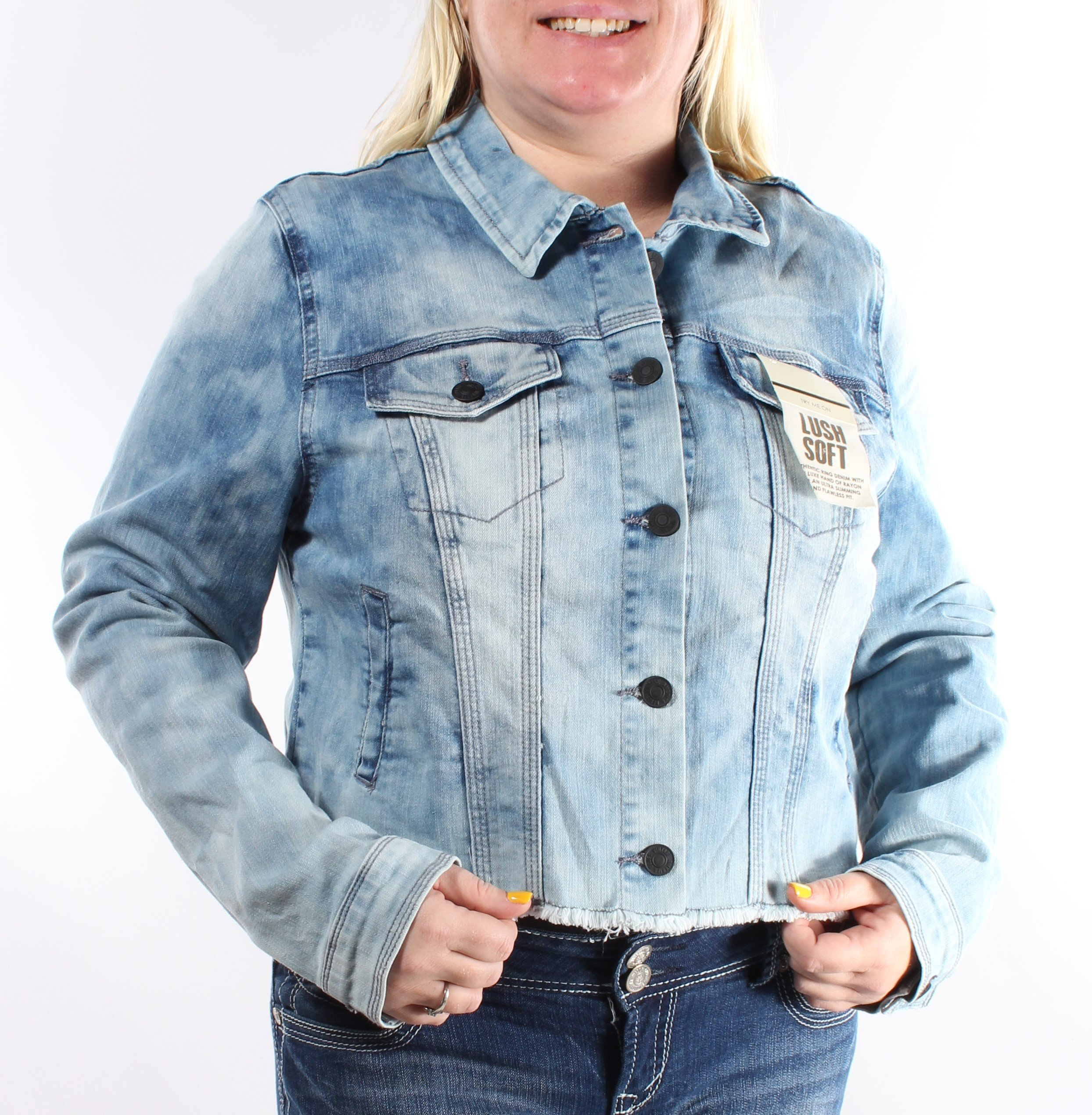 Vintage America $80 Womens 1148 Blue Denim Casual Jacket S B+B by Vintage America