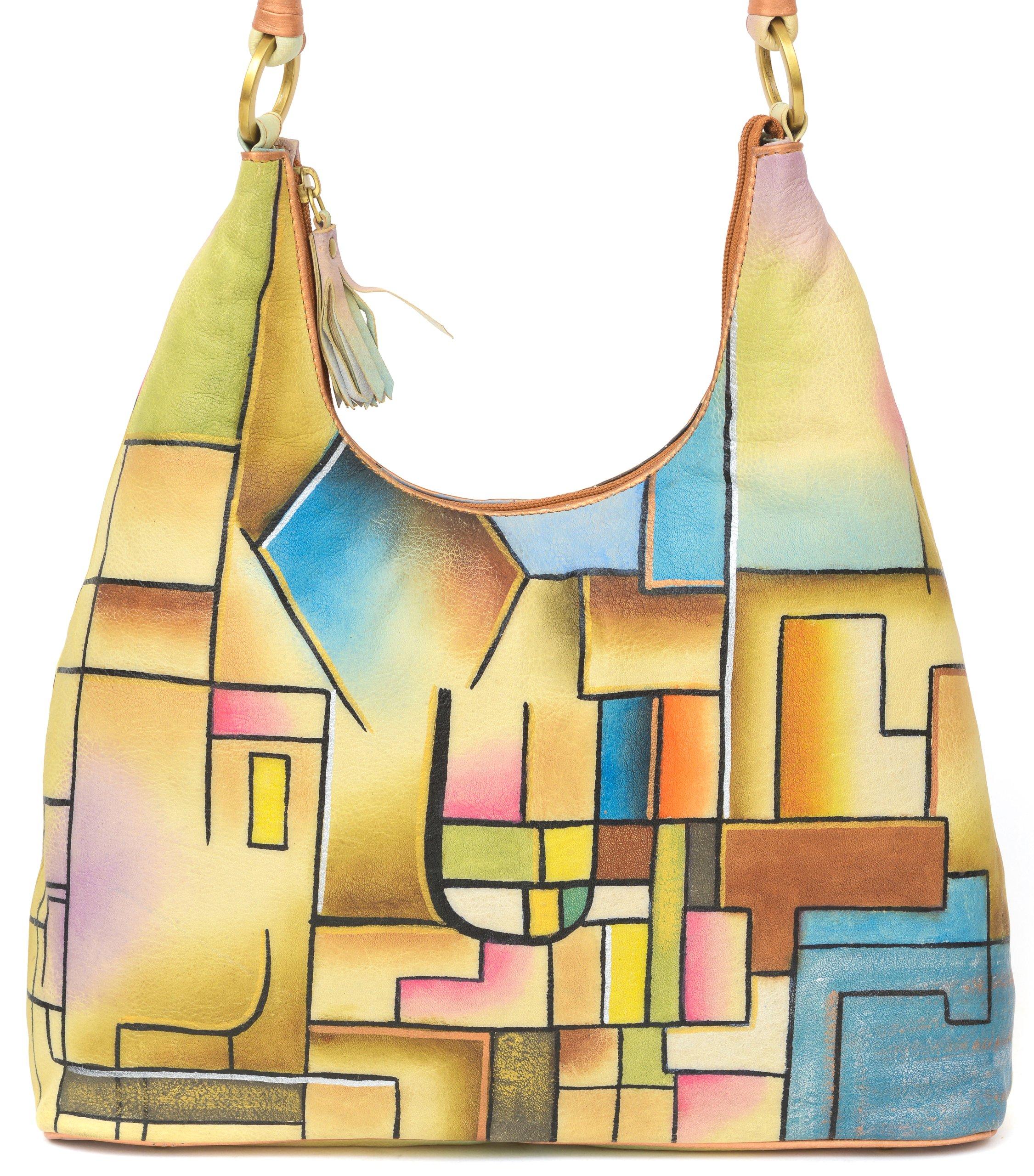 ZIMBELMANN SELINA Genuine Nappa Leather Hand-painted Hobo Shoulder Bag
