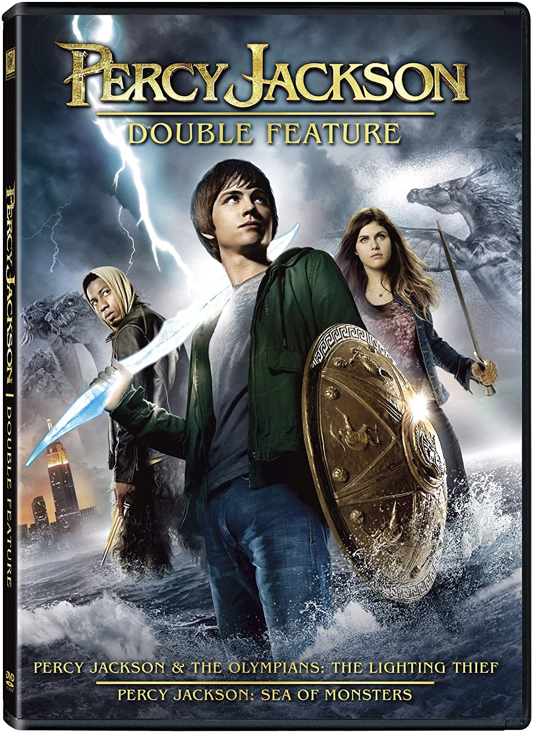 Amazon Com Percy Jackson Double Feature Logan Lerman Brandon T Jackson Alexandra Daddario Sean Bean Pierce Brosnan Jake Abel Annie Ilonzeh