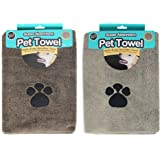 Super Absorbant Micofibre Pet Towels for Dogs 2 Pack