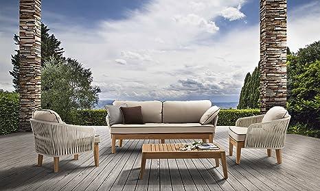 Rspl Salotto Design in Teak e Polyrattan Alta qualità per ...