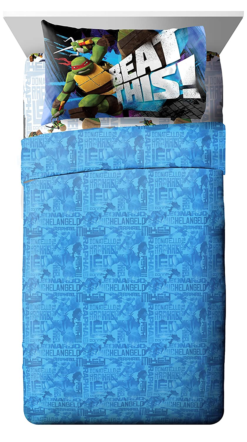 Nickelodeon Teenage Mutant Ninja Turtles Heroes Sheet Set, Full
