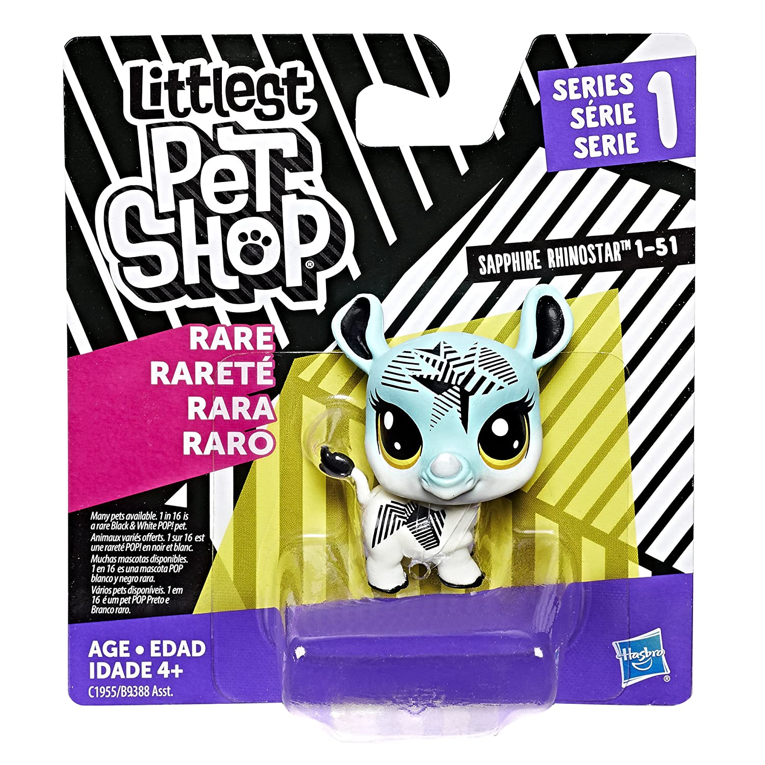 Rhino Littlest Pet Shop Single Pet Hasbro C1955