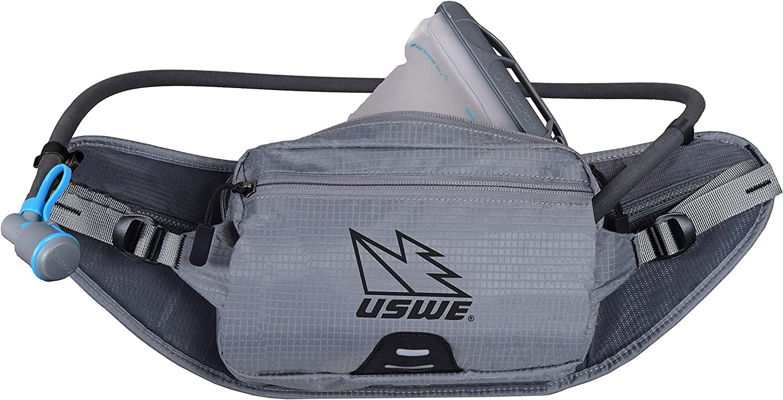 USWE Sports zulo 2 Waist Belt with Hydration, Grey, Fits All ...
