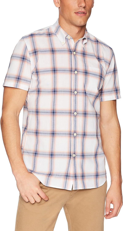 Goodthreads Mens Standard-Fit Short-Sleeve Lightweight Madras Plaid Shirt Brand