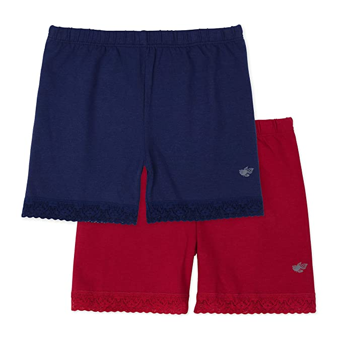 Lucky & Me | Leah Girls Undershorts | Children's Tagless Shorts for Under  Dresses & Uniforms | 2 Pack