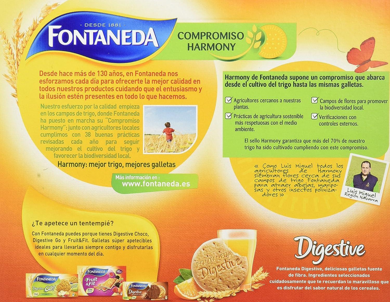 Fontaneda - Digestive - Galletas de soja y fruta - 600 g: Amazon.es: Alimentación y bebidas