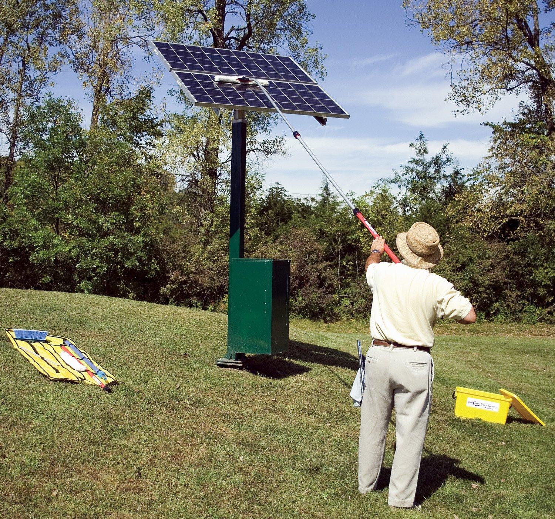 『ソーラーパネル掃除で発電量アップ!』Mr.Longarm ソーラーパネル清掃キット 1.5-3.5m
