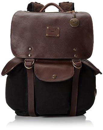 Amazon.com: Will Leather Goods Men's Lennon Backpack, Black/Brown ...