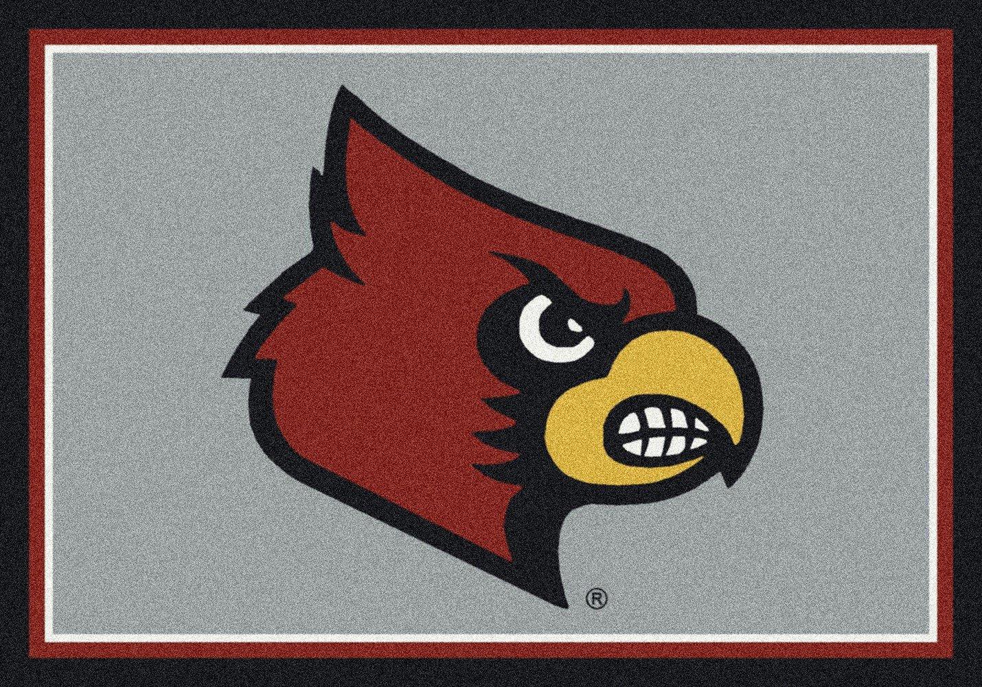Louisville Cardinals NCAA College Team Spirit Team Area Rug 5'4''x7'8''