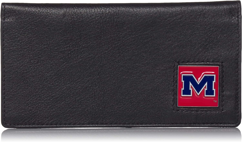 Siskiyou NCAA Unisex Leather Checkbook Cover