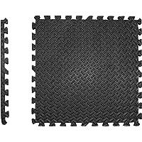 Beschermende matten set extra dik - 2 cm - PREMIUM Fitness Apparaten onderlegmat 4 st. EXTRA LARGE 60x60cm 1,5m² zwarte…