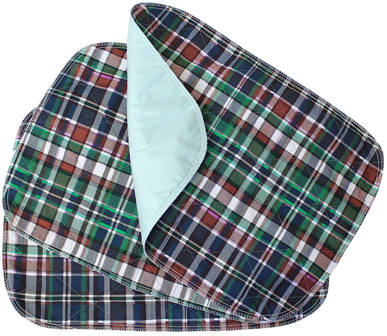 Platinum Care Pads - Plaid Small Washable Chair Pad Bed Pad/Small Reusable Incontinence Chair Underpad 17x24 - Perfect for Children and Adults Incontinence Protection (6)