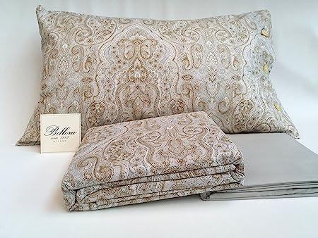 Bellora - Juego de sábanas para cama de matrimonio de percal de puro algodón: encimera 255 x 280 + bajera 180 x 200 + 2 fundas de almohada 50 x 80: Amazon.es: Hogar