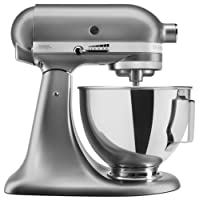 KitchenAid UK 5KSM95PSBCU Stand Mixer with Pouring Shield, Silver