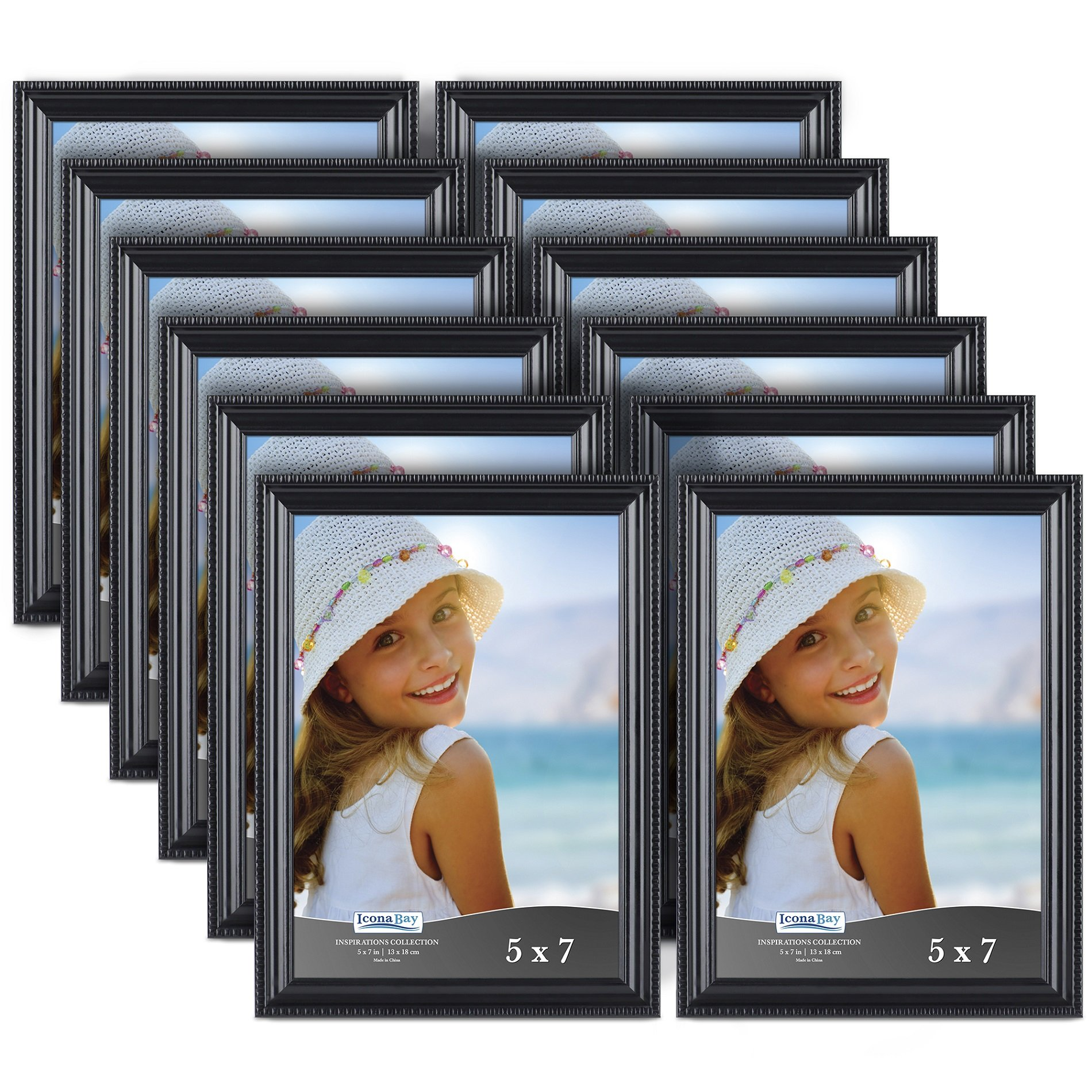 Icona Bay 5x7 Picture Frames (5 by 7, 12 Pack), Black Picture Frame ...