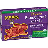 Annie's Organic Bunny Fruit Snacks, Berry Patch, 5 Pouches, 4 oz. Each (Pack of 4)
