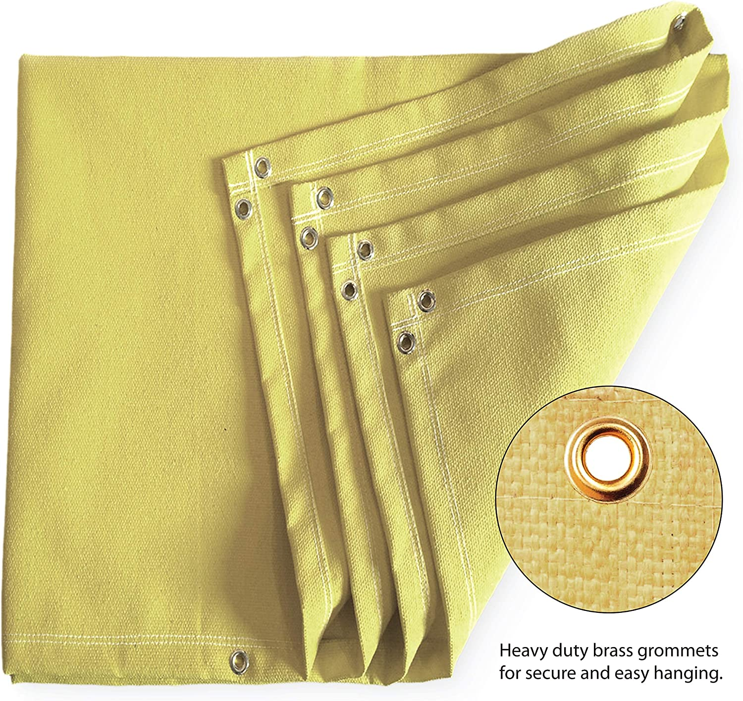 Brass grommets for easy Hanging and Protection Cover Thermal resistant insulation Retardant Fiberglass 4 x 6 Welding Blanket Fireproof