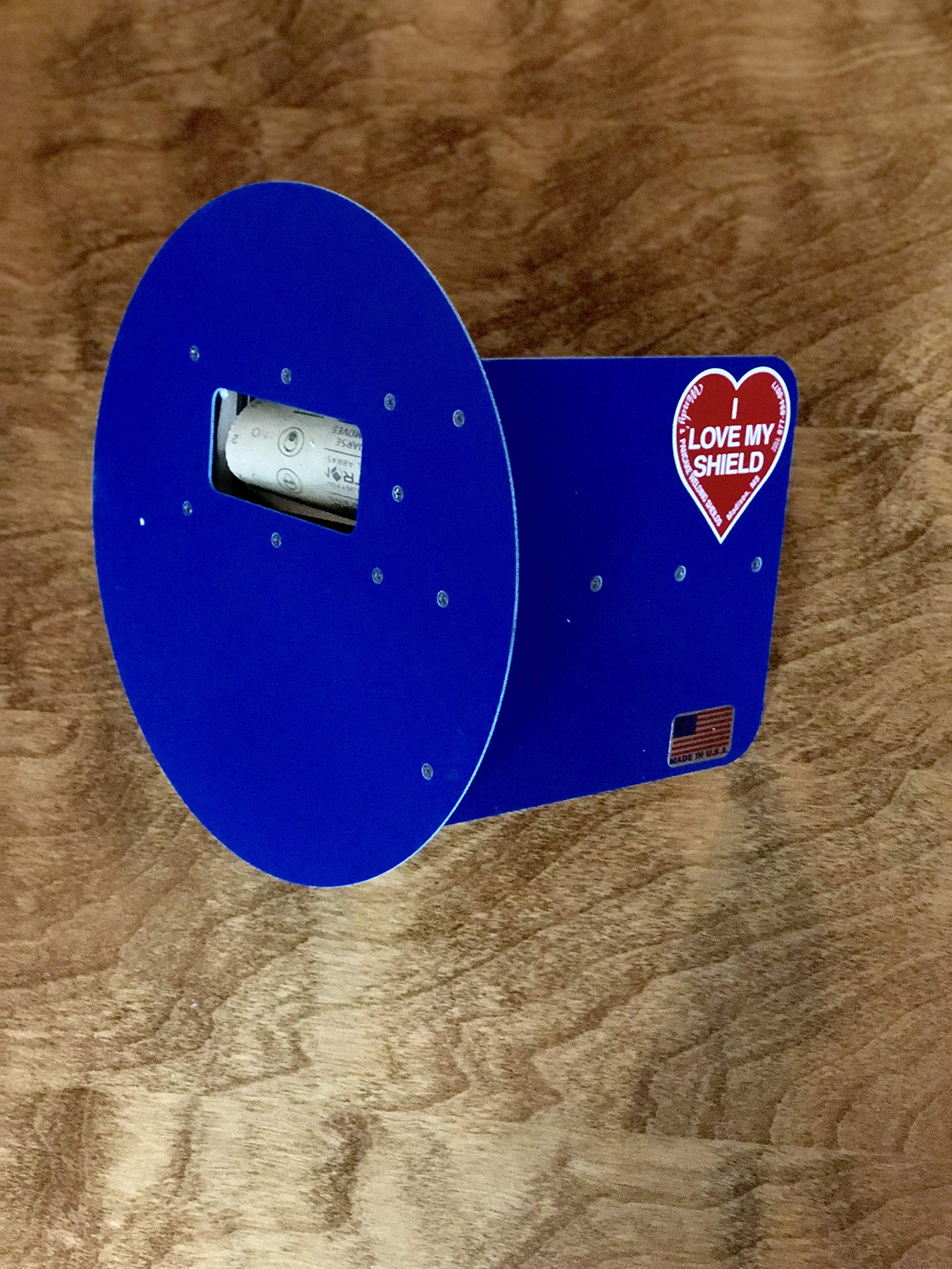 Wendy's Pancake Welding Hood Helmet w/Strap - Right Handed - BLUE