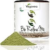 BIO Superfood Mix REFINE | 200g | Schadstoff-geprüft | Spirulina - Chlorella - Weizengras - Gerstengras | OHNE Zusatzstoffe | Vegan | Vegavero: from Nature - with Passion - for You!