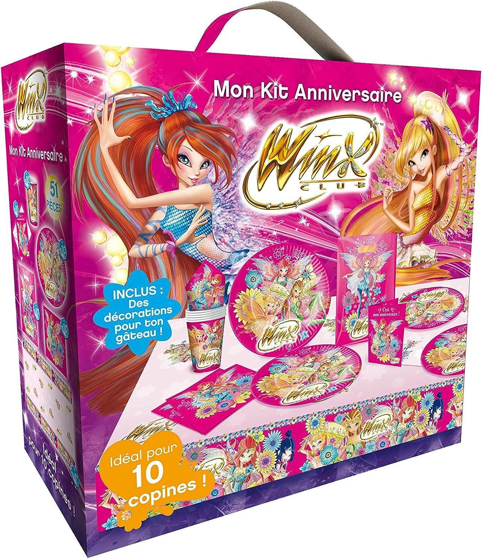 Mon Kit Anniversaire 51 Pieces Winx Club Amazon Fr Bebes Puericulture