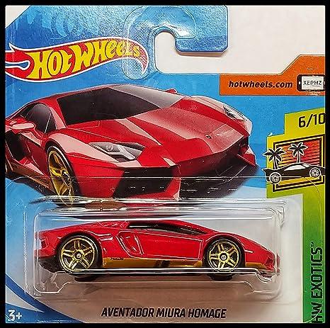 Amazon Com Hot Wheels 2018 Short Card Lamborghini Aventador Miura