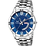 Vills Laurrens Analogue Blue Dial Day and Date Display Men's Watch
