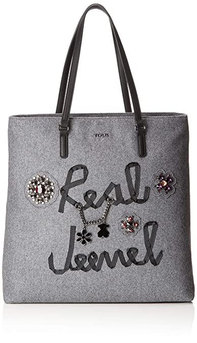 Real Tous Para Super Grande JewelShopper Shopping Mujergris EeD9IWH2Y