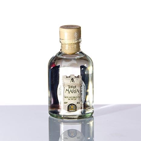 Botellita Miniatura de Licor de Aguardiente de Orujo Torre María | botella Rocío