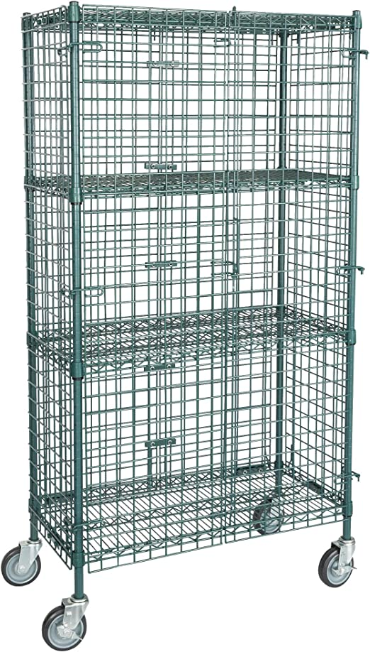 """AmazonSmile: TableTop King NSF Mobile Green Wire Security Cage Kit - 18"""" x 36"""" x 69"""": Home & Kitchen"""