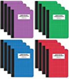 """Quad Ruled Composition Book Notebook, 12 Pack, Hardcover 4x4 Graph Ruled Paper, 80 Sheets, 9.75"""" x 7.5"""", by Better…"""