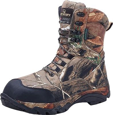 Amazon.com   R RUNFUN Men's camo Waterproof Lightweight Hunting Boots    Hunting