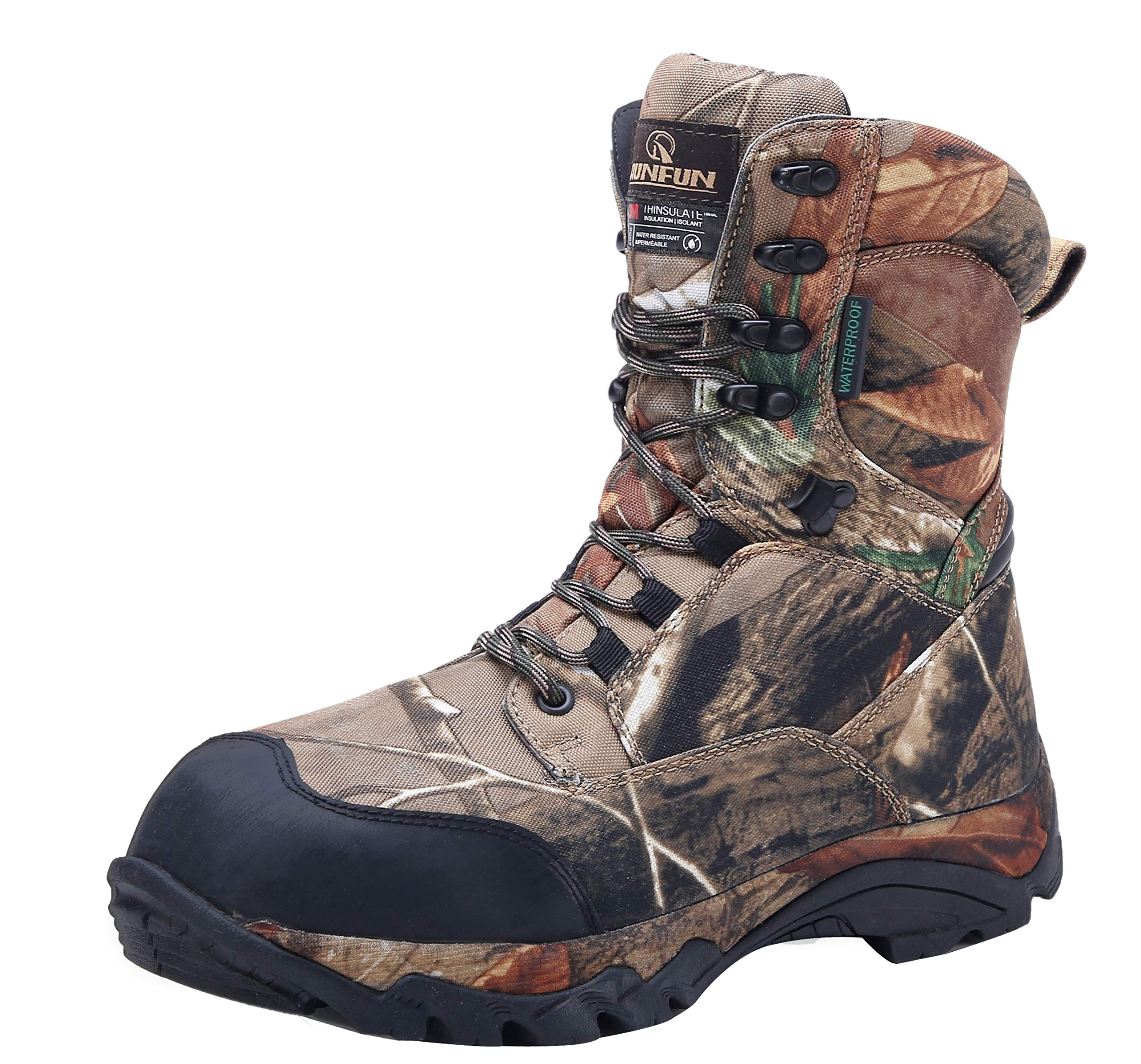 R RUNFUN Men's camo Waterproof Lightweight Hunting Boots by R RUNFUN