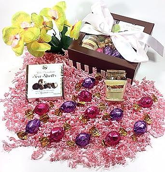 Amazon Com Mothers Day Ribbon Gift Basket Box Godiva Gourmet