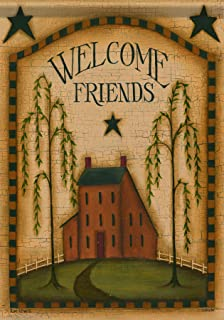 Exceptional Carson Home Accents FlagTrends Classic Garden Flag, Primitive Welcome